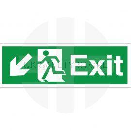 Exit Arrow Down Left Sign