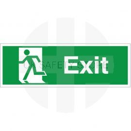 Exit Man Running Left Sign