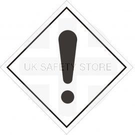 Danger Warning Sign Sticker 200Wmm x 200Hmm