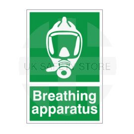Breathing Apparatus First Aid Sign