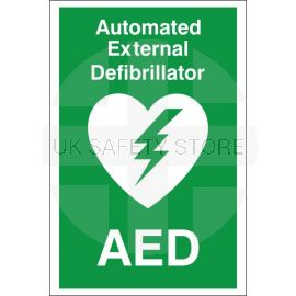 Automated External Defibrillator First Aid Sign