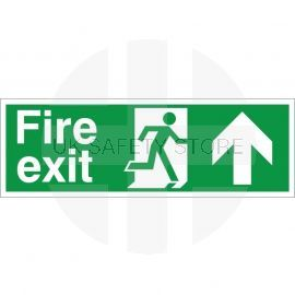Extra Large Fire Exit Up Sign 900mm x 300mm