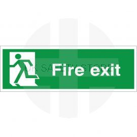 Fire Exit Man Running Left Sign