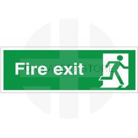 Fire Exit Man Running Right Sign