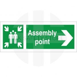 Assembly Point Arrow Right Sign