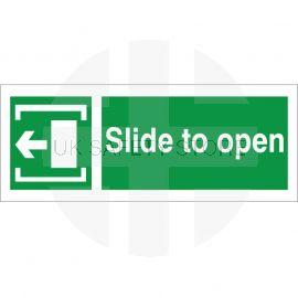 Slide To Open Arrow Left Sign