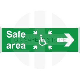 Refuge Safe Area Arrow Right Sign
