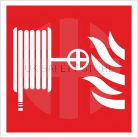 Fire Hose Reel Symbol Sign 200x200