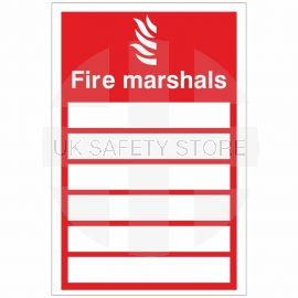 Fire Marshals Sign 150x200