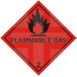 Flamable Gas Warning Sticker - Number 2