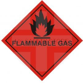 Flamable Gas Warning Sticker