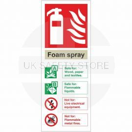 Foam Spray Fire Extinguisher Identification Sign