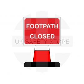 Footpath Closed Aluminium Composite Cone Sign