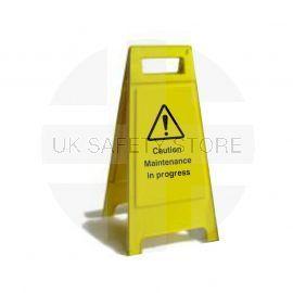 Caution Maintenance In Progress Custom Made A Board Freestanding Sign 600mm