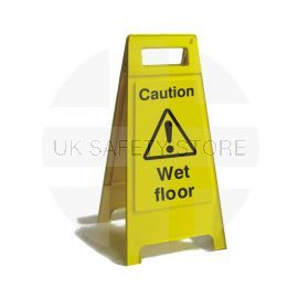 Caution Wet Floor Free Standing Sign 600mm