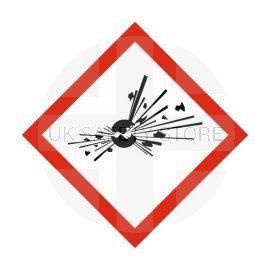 Explosive Label Sticker 100X100mm