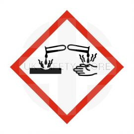 Corrosive Label Sticker 100X100mm