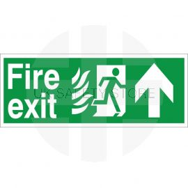 Hospital Compliant Fire Exit Arrow Up Sign