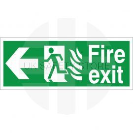 Hospital Compliant Fire Exit Arrow Left Sign