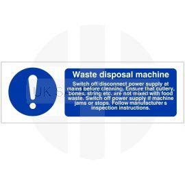 Waste Disposal Machine Sign