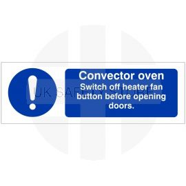 Convector Oven Hygiene Sign