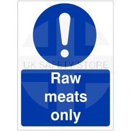 Raw Meats Only Hygiene Sign