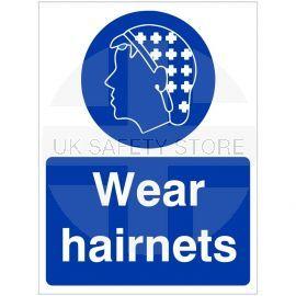 Wear Hairnets Hygiene Sign