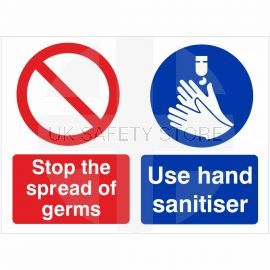 Stop The Spread Of Germs  Use Hand Sanitiser Hygiene SIgn