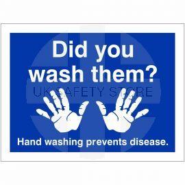 Did You Wash Them? Hygiene Sign