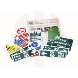 Safety Sign Pack for Small Businesses (includes an Official HSE Law Poster)