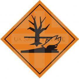 Marine Pollutant Sign Sticker 100Wmm x 100Hmm