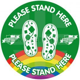 Custom Please Stand Here School Floor Graphic Sign