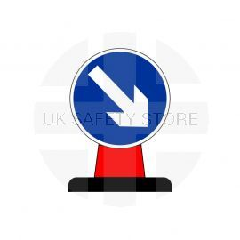 Keep Right Aluminium Composite Cone Sign