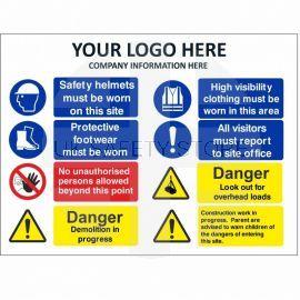 Danger Demolition In Progress Multi Message Safety Board