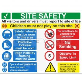 Site Safety - Children Must Not Play On This Site Sign