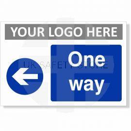 One Way Arrow Left Sign
