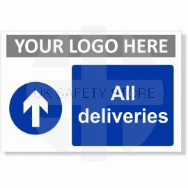 All Deliveries Arrow Up Sign