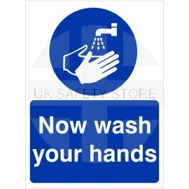 Now Wash You Hands Sign (Portrait)