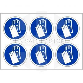 Protective Hand Labels 100mm in Diameter