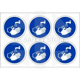 Pack of 24 Wash Hand Stickers
