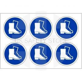 Pack of 24 Protective Footwear Labels 100mm in Diameter