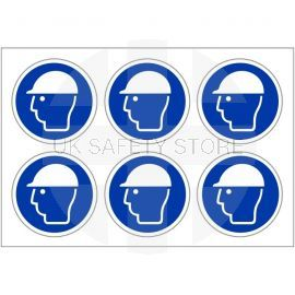 Helmet Protection Labels 100mm in Diameter