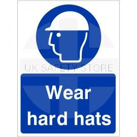 Wear Hard Hats Sign