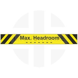 Max headroom sign 3mm composite plate 1200x150mm