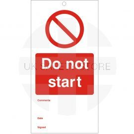 Do Not Start - Maintenance Tags