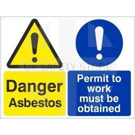 Danger Asbestos Permit To Work Sign
