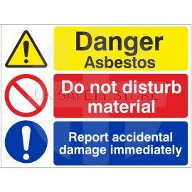 Danger Asbestos Do Not Disturb Material Sign