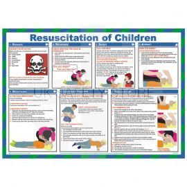 Resuscitation Of Children Laminated Poster