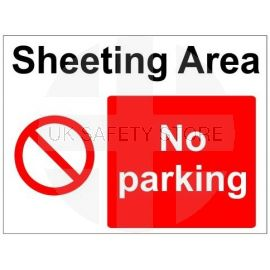 No parking sign in a variety of sizes and materials