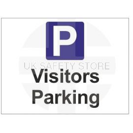 Visitors parking sign in a variety of sizes and materials